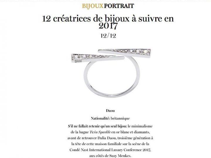Vogue Paris – Jewellers to Watch 2017