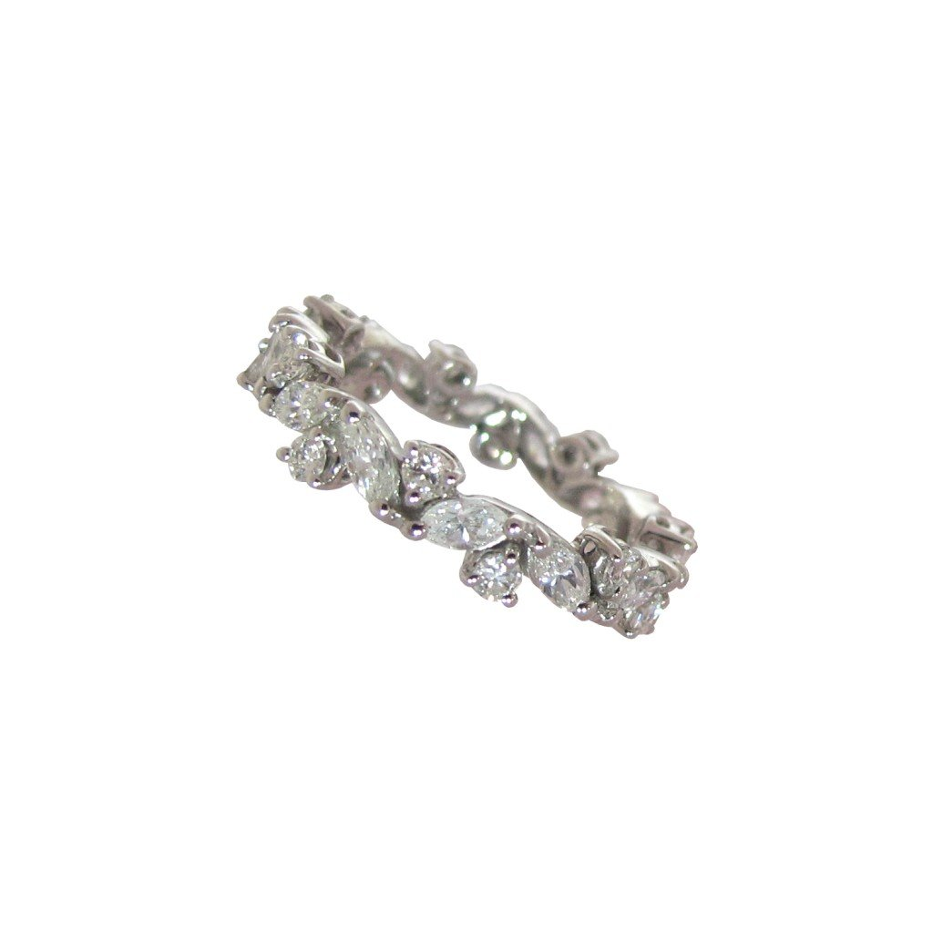 Diamond Wreath Eternity Ring Daou Jewellery