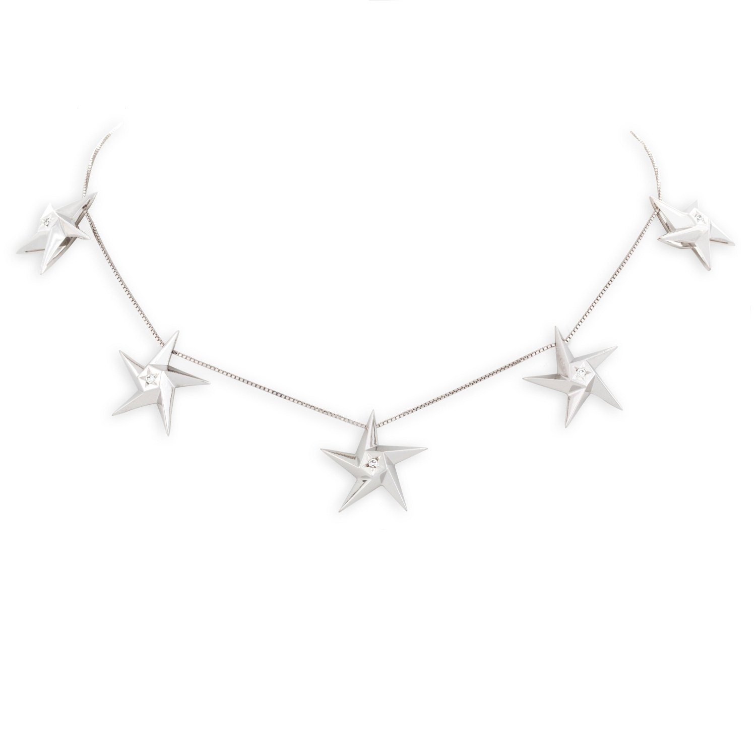 point jewellery splendour london of open star necklace links sterling hires silver en gb four