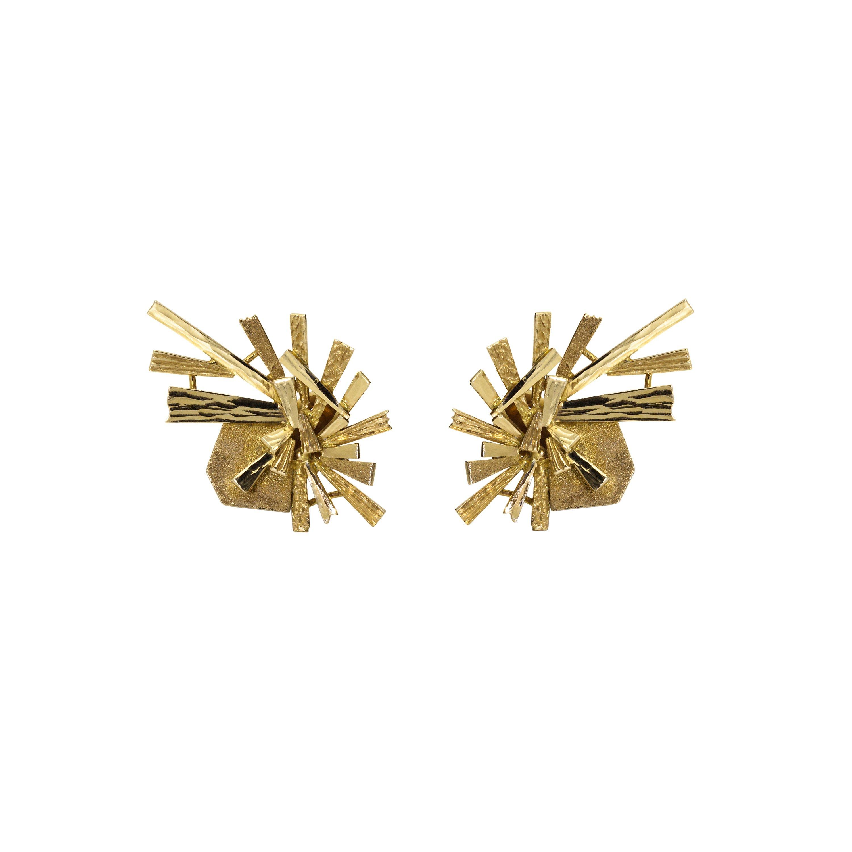Daou Jewellery 18kt White Gold & Diamond Star Earrings 954UI