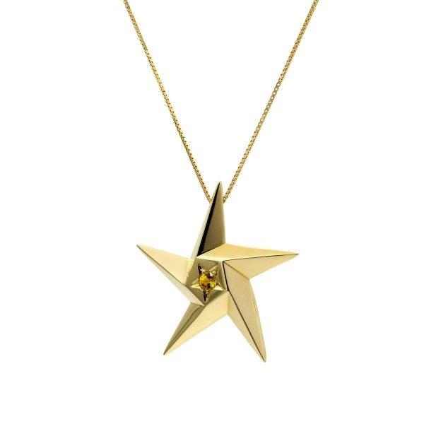 Supernova Sun Star pendant Daou Jewellery