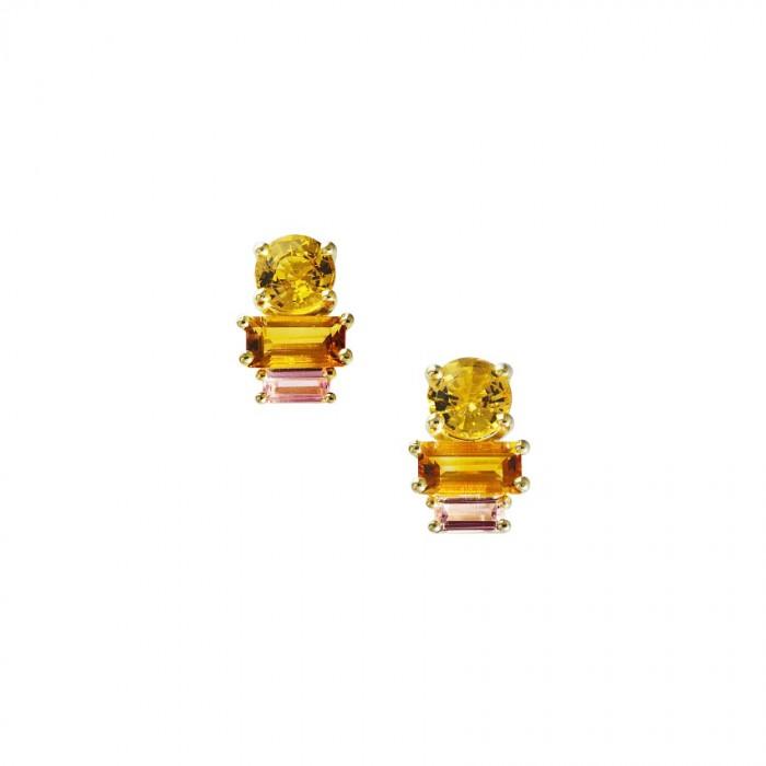 Daou Jewellery 18kt Gold & Gemstone Golden Light Earrings CuESZ87