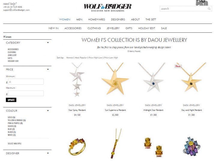 Daou Jewellery is stocked at Wolf & Badger