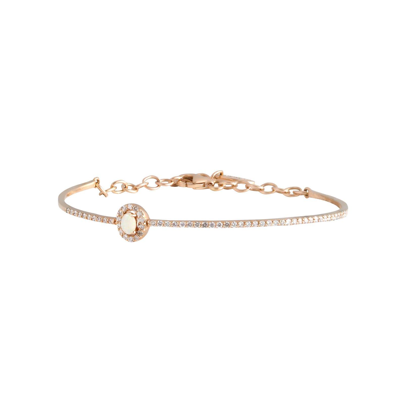 Daou Jewellery 18kt Gold, Ruby & Diamond Orbit Bangle