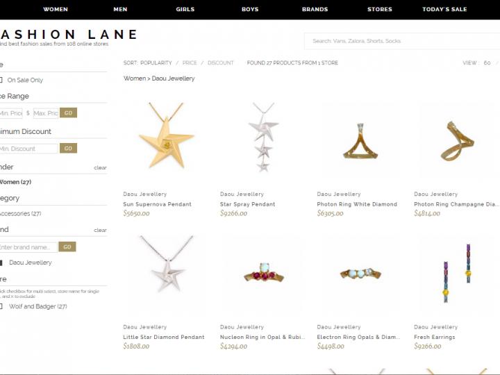 Fashion Lane our new Australian stockist