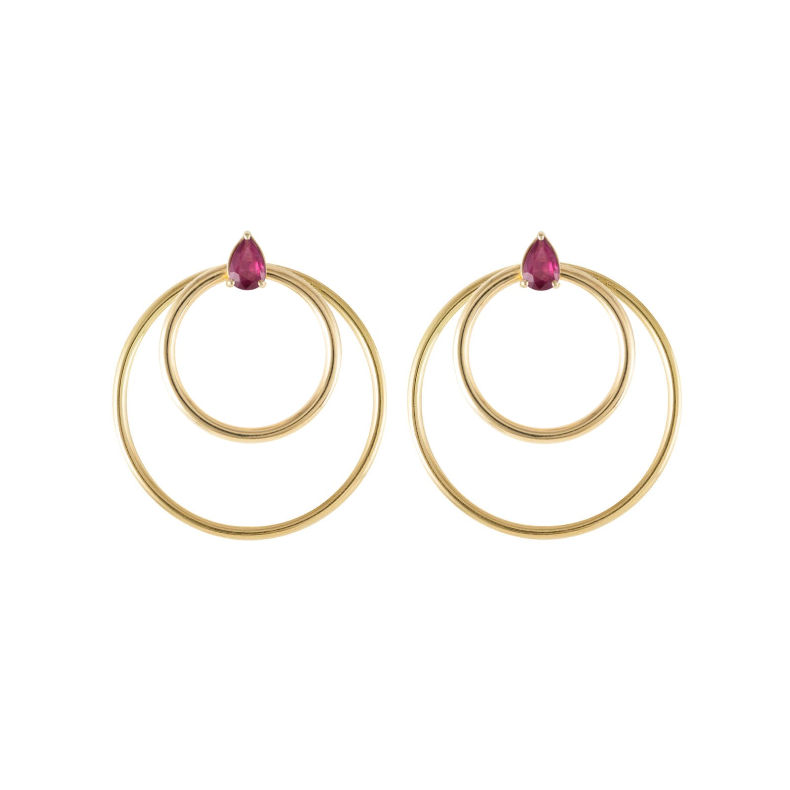 boutique set hoop golden jewellery en gold earrings happiness