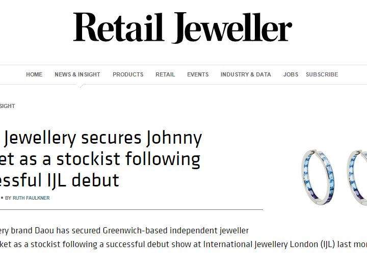 Retail Jeweller – Announcement of our New Stockist