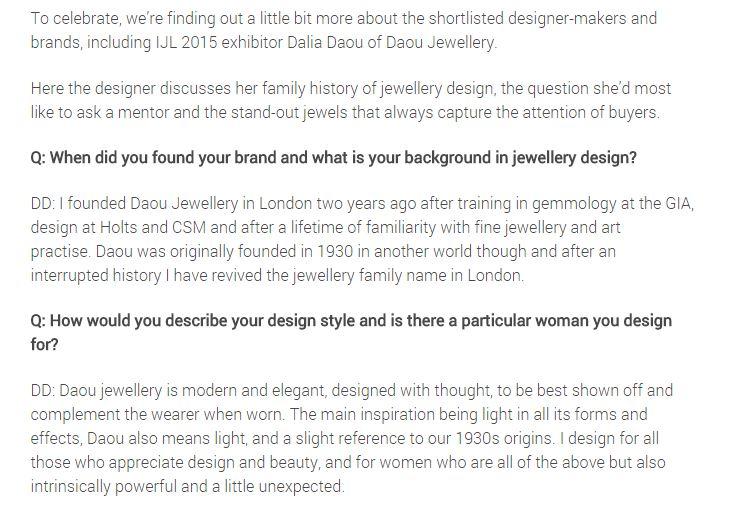 IJL Blog Daou Jewellery interview