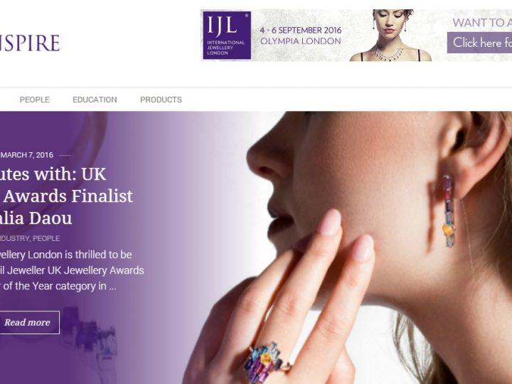 Jewellery London – IJL Inspire 5 minutes with UK Awards Finalist Dalia Daou