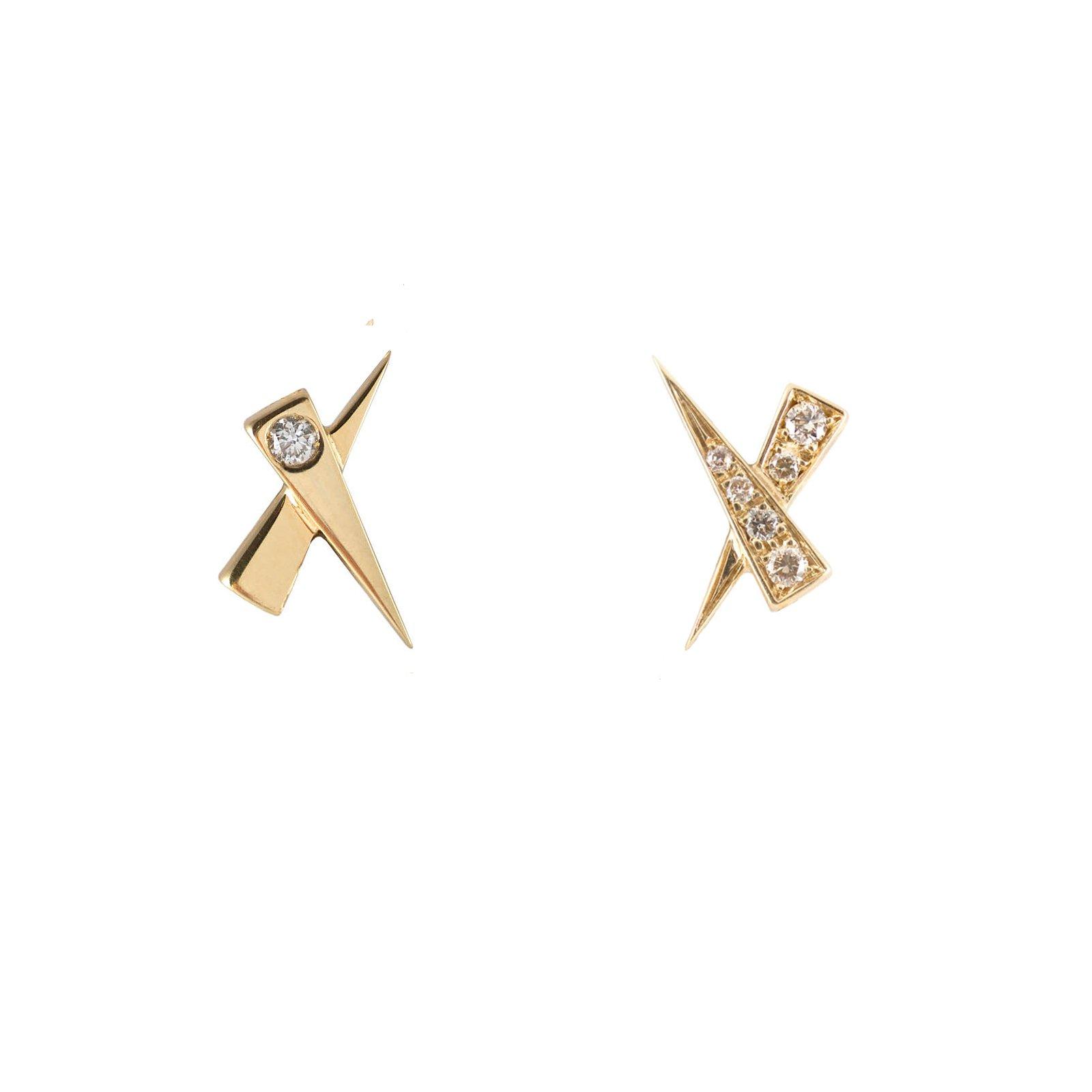 Daou Jewellery 18kt Gold Kisses Earrings dQu3Q2