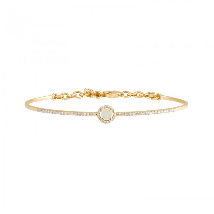 Daou Jewellery 18kt Gold, Diamond & Opal Orbit Bangle