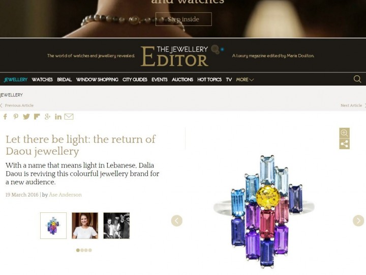 The Jewellery Editor – Daou Jewellery Profile