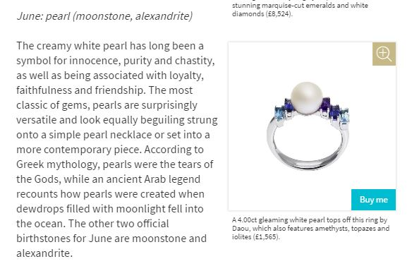 Jewellery Editor Birthstones Pearl June Daou Jewellery