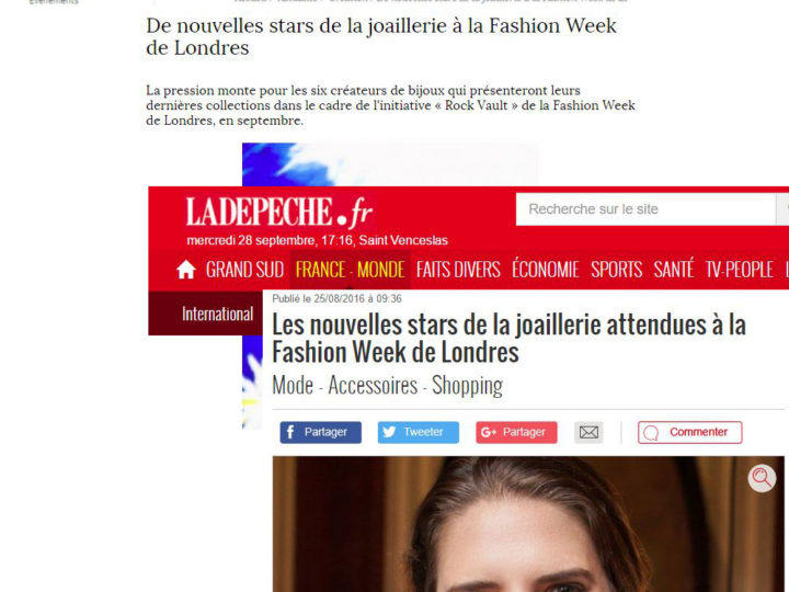 La Depeche & Fashion Network FR – French press coverage