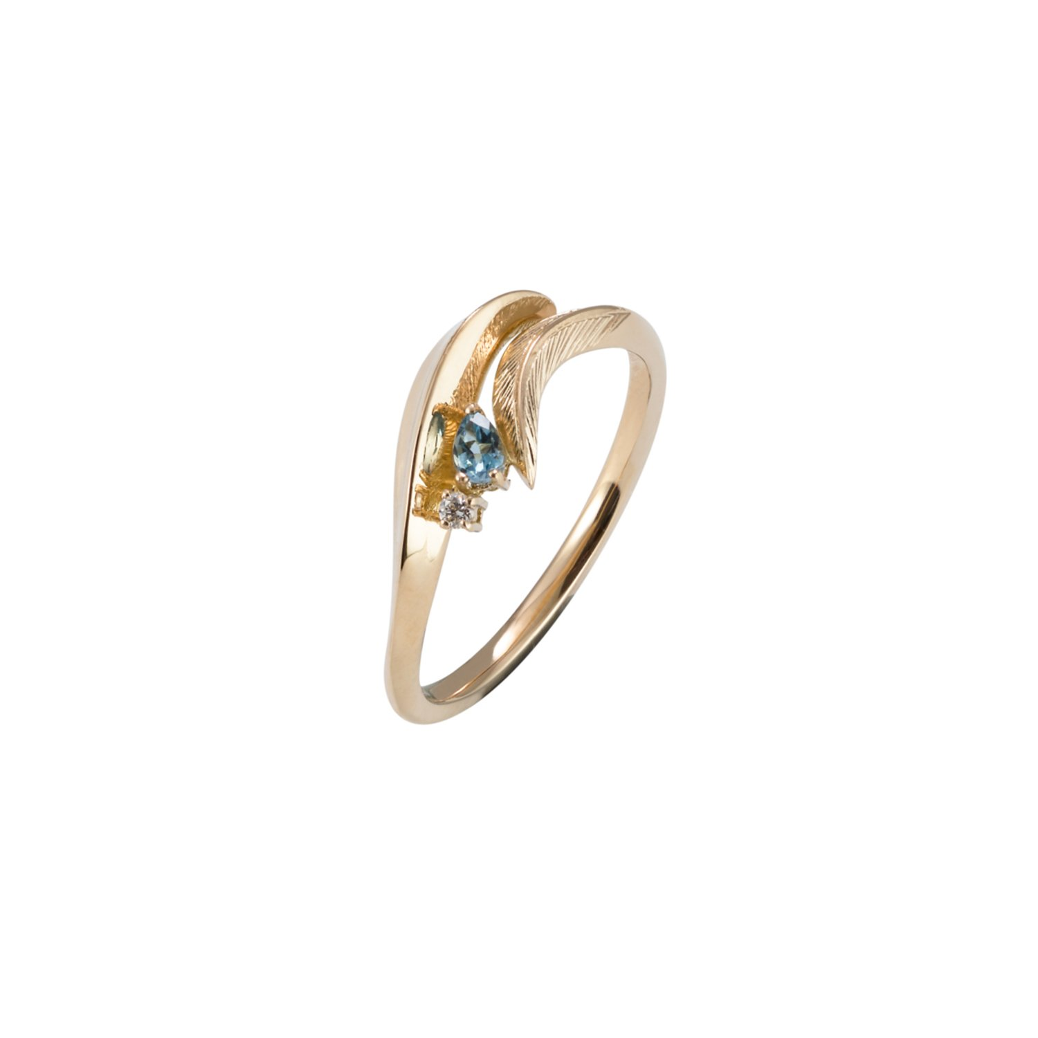 ring natural aquamarine with in ct jewellery gold diamonds w silver sterling rose itm and