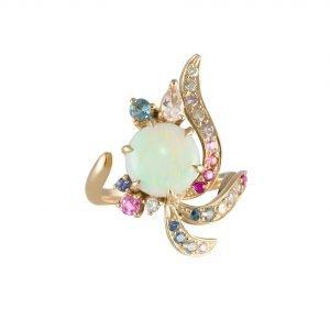 Daou Jewellery 18kt Gold & Gemstone Golden Light Ring - UK O - US 7 - EU 55 1/4 lTGqshSM7