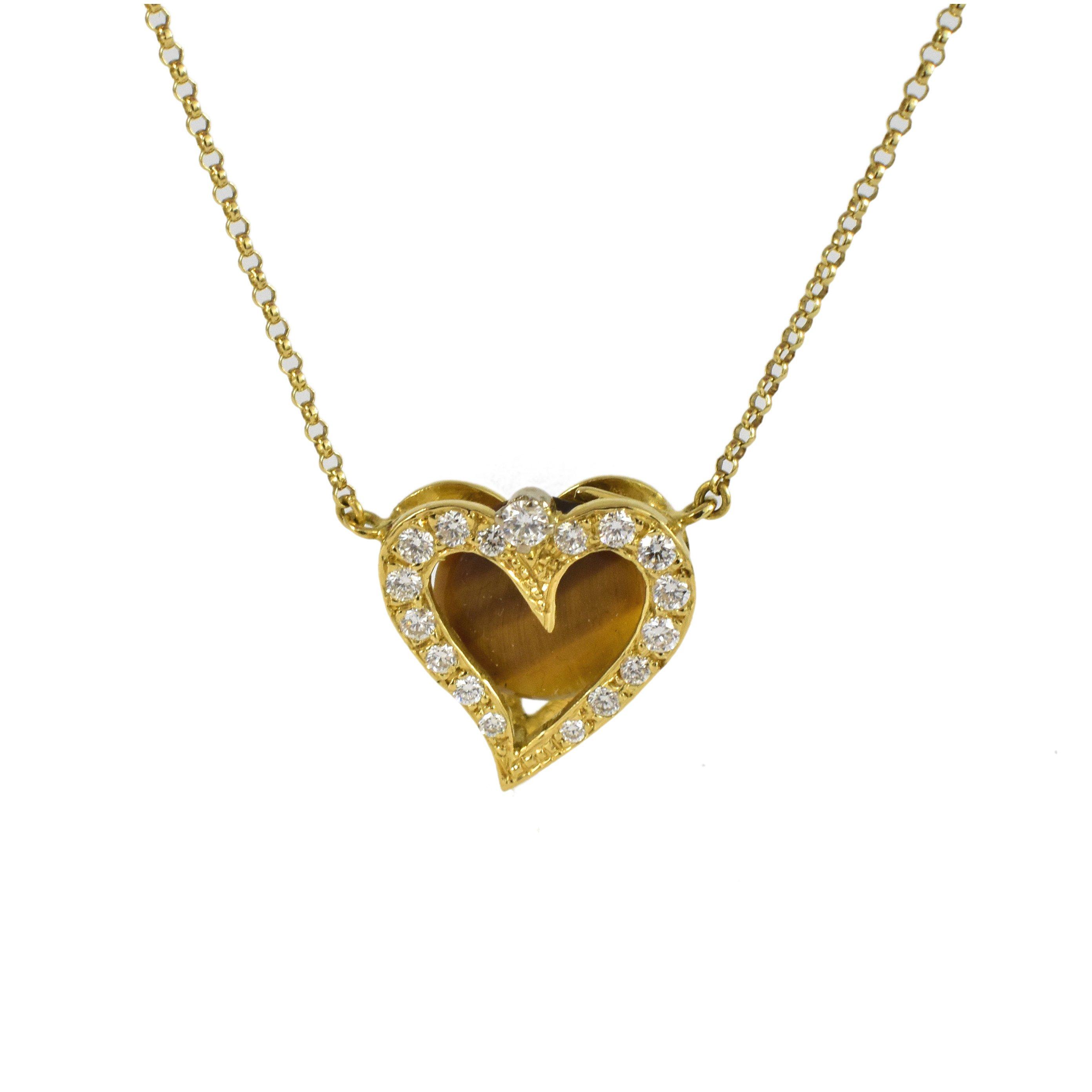 Daou Jewellery Diamond & Gold Touching Full Hearts Pendant 1lqBxhj