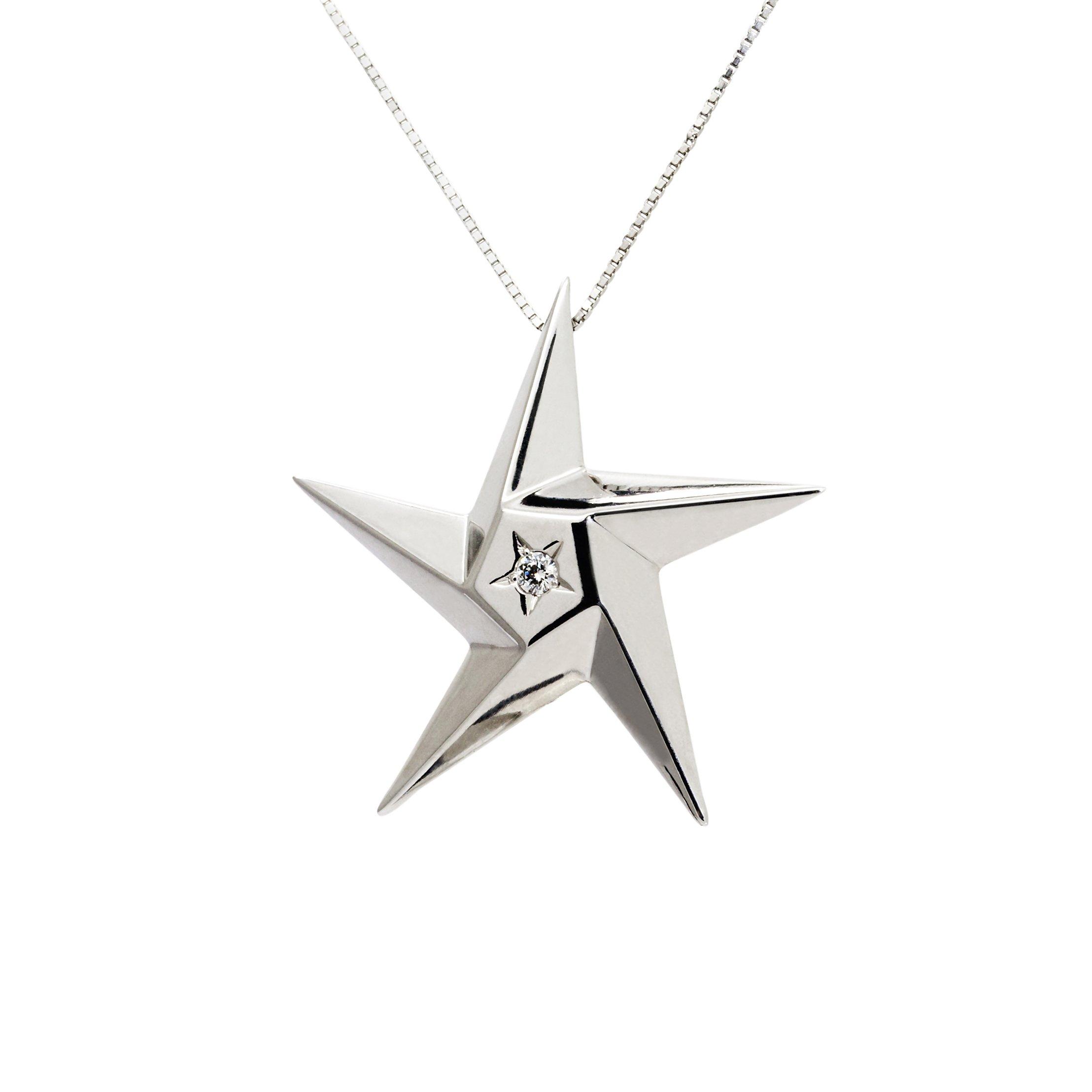 Daou Jewellery 18kt Gold & Black Diamond Day & Night Star Pendant - 16 fpn6Y0m4n