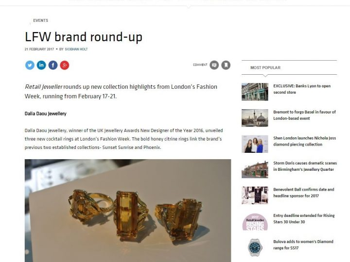 Retail Jeweller – LFW Highlights