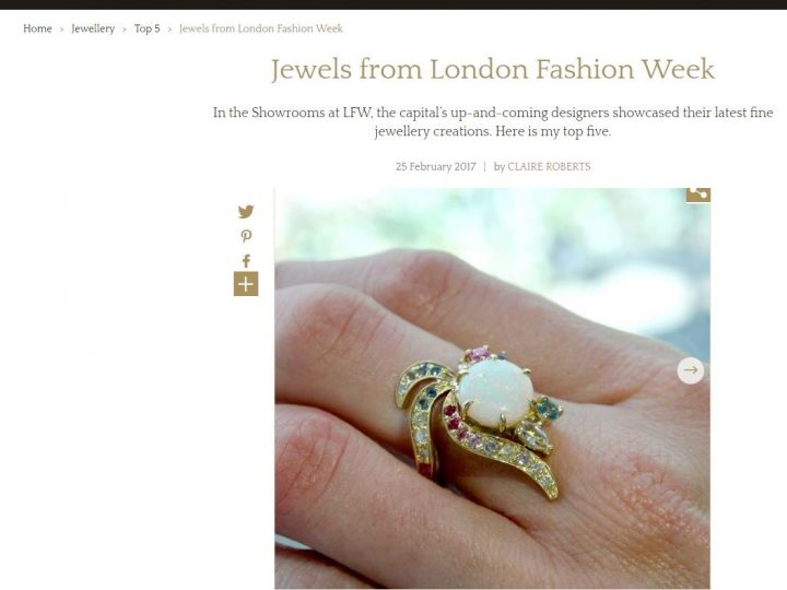 The Jewellery Editor – Top 5 Jewels LFW