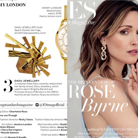 ES Magazine Daou Jewellery Sparks Earrings Front page May 2017