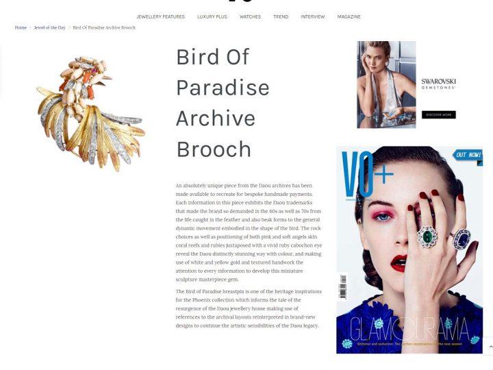 VO+ – Bird of Paradise Brooch