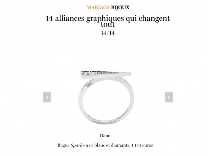 VOGUE PARIS – Graphic Wedding Rings