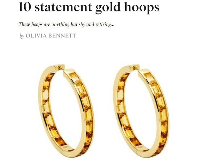 TATLER – Statement Gold Hoops